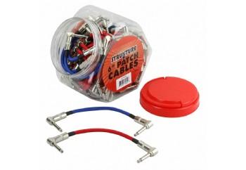 Strukture S6P48RB R-Angle Patch Woven Cable - Pedal Ara Kablosu (15 cm)