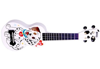 Mahalo MA1DAWT Dalmatian White - Soprano Ukulele