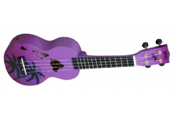 Mahalo MD1HAPPB Hawaii Purple Burst - Soprano Ukulele
