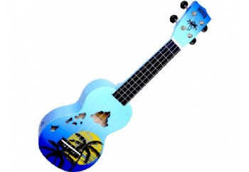 Mahalo MD1HABUB Hawaii Blue Burst - Soprano Ukulele