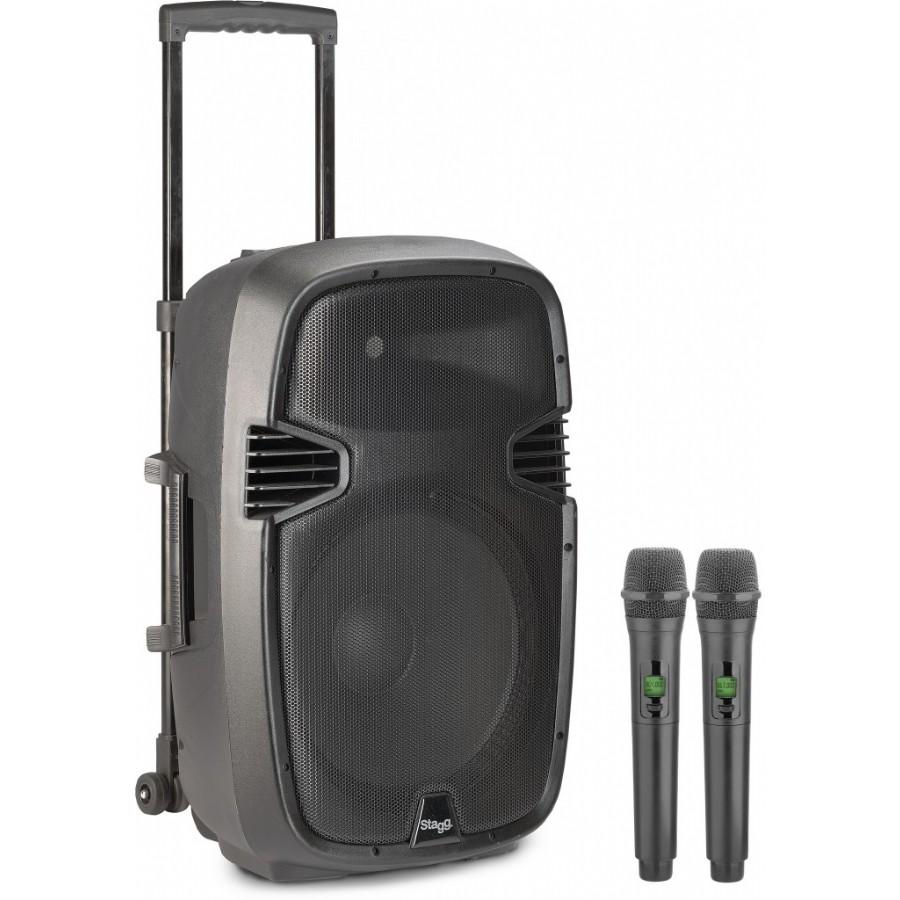 Stagg RE-VOLT15U Battery Power Speaker Reverb + UHF