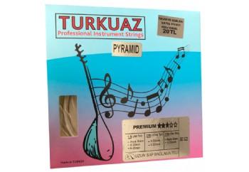 Turkuaz BD322 0.22 mm Pyramid + İpek Bamlı Takım Tel - Uzun Sap Bağlama Teli 022