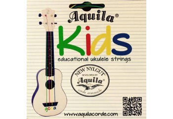 Aquila 138U Kids Educational New Nylgut - Soprano Ukulele Teli (Renkli)