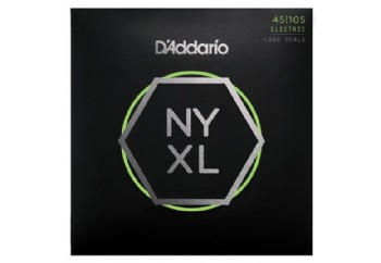 D'addario NYXL45105, Set Long Scale, Light Top / Med Bottom, 45-105 Takım Tel - Bas Gitar Teli 45-105