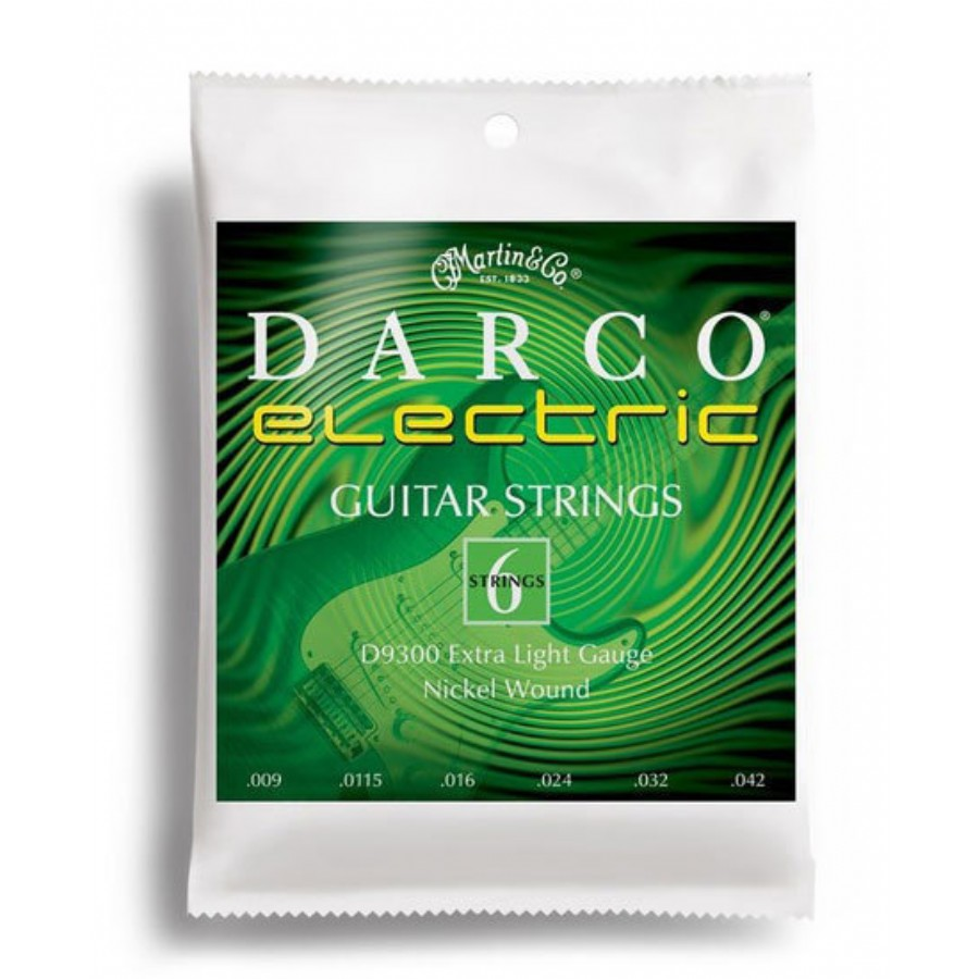 Martin D9300 Darco Electric Guitar Strings - Extra Light