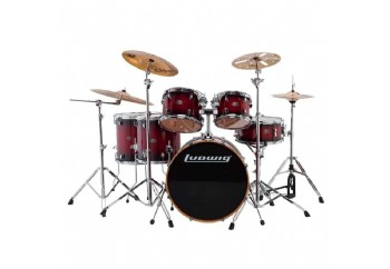 Ludwig Evolution Maple LCEM622X Red Burst - Davul Seti