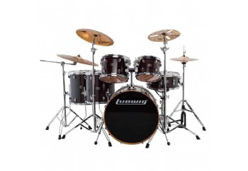 Ludwig Evolution Maple LCEM622X Transparent Black - Davul Seti