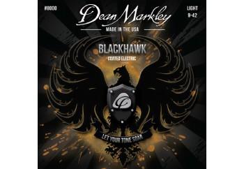 Dean Markley 8000 Light Blackhawk Coated Electric Guitar Strings - Elektro Gitar Teli 009
