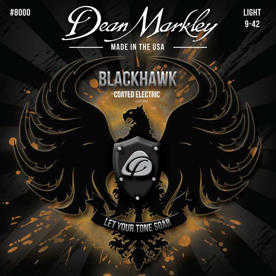 Dean Markley 8000 Light Blackhawk Coated Electric Guitar Strings