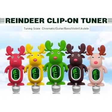 Swiff A7 Patent Cute Cartoon Reindeer Universal Clip-on Tuner