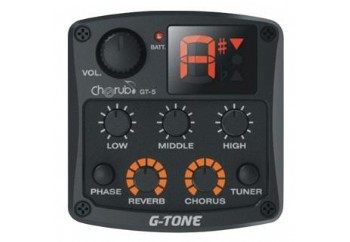 Cherub GT-5 Acoustic Guitar Preamp Piezo Pickup 3-Band EQ Equalizer LCD Tuner with Reverb/Chorus Effects