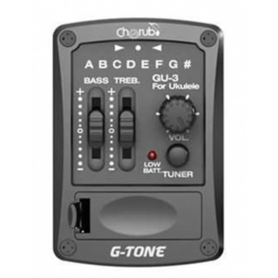 Cherub GU-3 Two Band EQ with Chromatic tuner for Ukulele