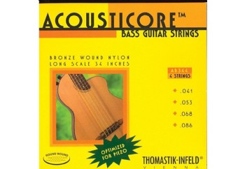 Thomastik AB344 Acousticore Phosphor Bronze 4-String Bass Strings - Akustik Bas Gitar Teli 041