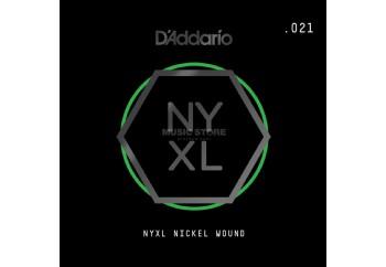 DAddario NYNW021 NYXL Nickel Wound - Elektro ve Akustik Gitar Tek Tel .021