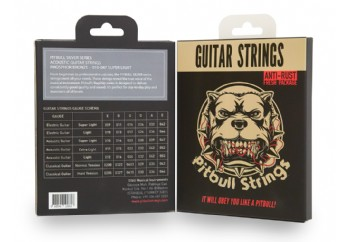 Pitbull Strings Silver Series SAG SL Phosphor Bronze Super Light Takım Tel - Akustik Gitar Teli 010-047