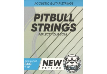 Pitbull Strings Silver Series SAG 11-52 EL Eski Versiyon - Akustik Gitar Teli 011-052