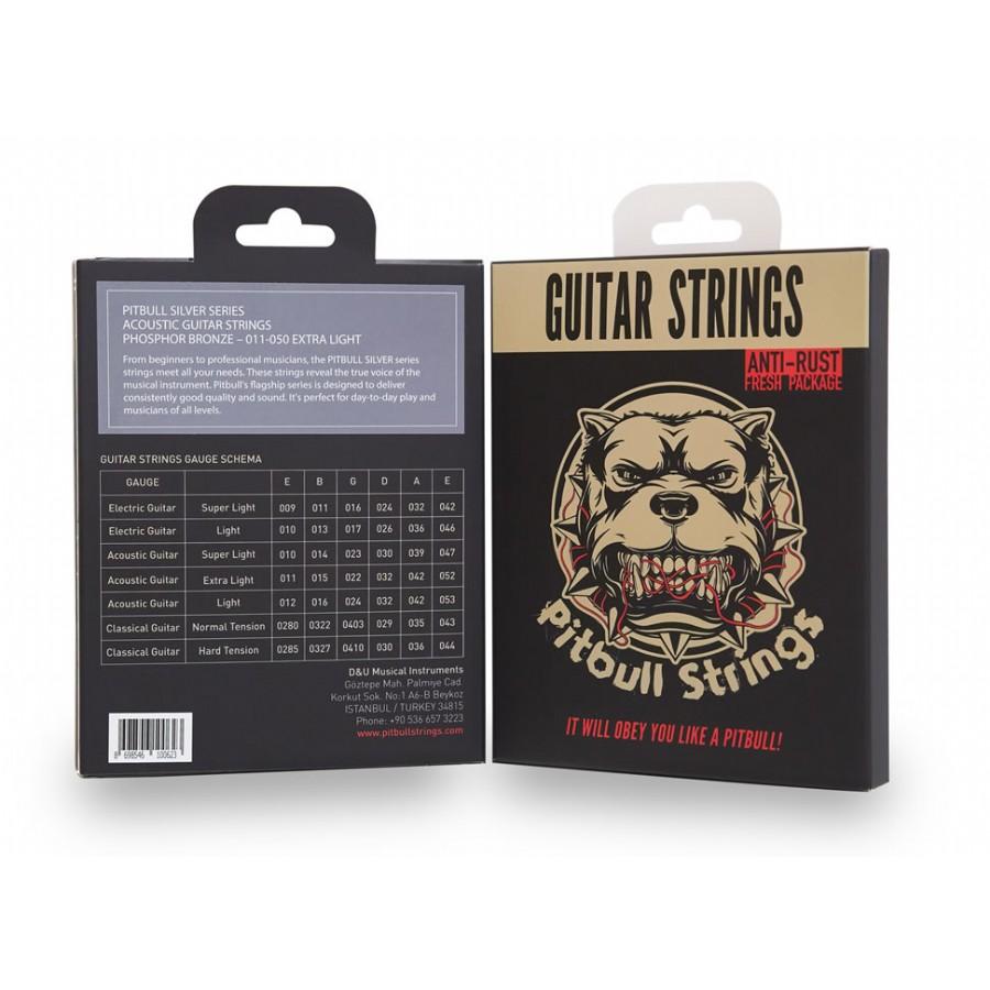 Pitbull Strings Silver Series SAG EL Phosphor Bronze Extra Light