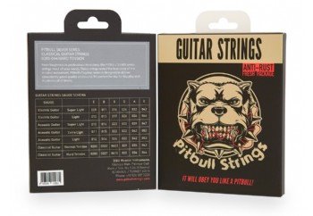 Pitbull Strings Silver Series SCG 0285-044 Hard Tension Takım Tel