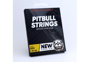 Pitbull Strings Gold Series GEG L Light Yeni Versiyon - Elektro Gitar Teli 010-046