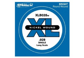 D'Addario Nickel Wound Single Long Scale .028 - Tek Tel - Bas Gitar Tek Telleri
