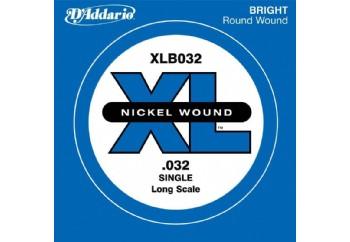 D'Addario Nickel Wound Single Long Scale .032 - Tek Tel - Bas Gitar Tek Telleri