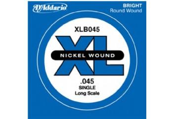 D'Addario Nickel Wound Single Long Scale .045 - Tek Tel - Bas Gitar Tek Telleri