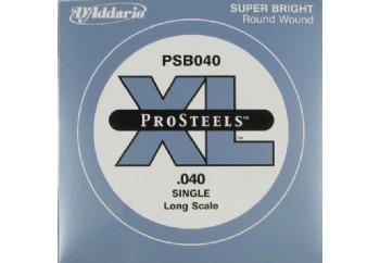 D'Addario ProSteels Bass Single, Custom Light, Long Scale .040 - Bas Gitar Tek Tel