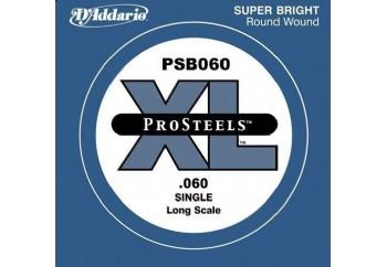 D'Addario ProSteels Bass Single, Custom Light, Long Scale .060 - Bas Gitar Tek Tel