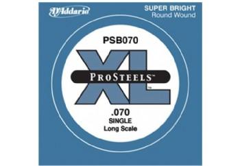 D'Addario ProSteels Bass Single, Custom Light, Long Scale .070 - Bas Gitar Tek Tel