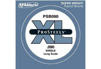 D'Addario ProSteels Bass Single, Custom Light, Long Scale .090 - Bas Gitar Tek Tel