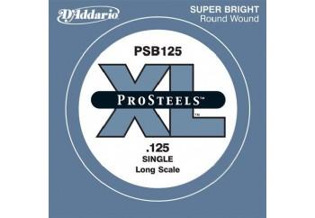 D'Addario ProSteels Bass Single, Custom Light, Long Scale .125 - Bas Gitar Tek Tel