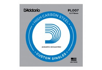D'Addario Acoustic or Electric Plain Stell Singles .007 - PL007