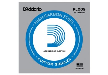 D'Addario Acoustic or Electric Plain Stell Singles .009 - PL009