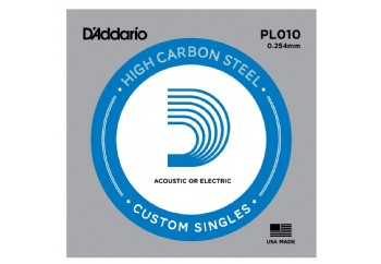 D'Addario Acoustic or Electric Plain Stell Singles .010 - PL010