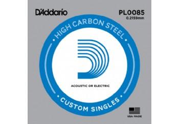 D'Addario Acoustic or Electric Plain Stell Singles .0085 - PL0085 - Elektro ve Akustik Gitar Tek Tel