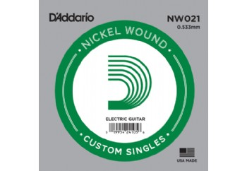 D'Addario Acoustic or Electric Nickel Wound Singles .021 - Elektro ve Akustik Gitar Tek Tel