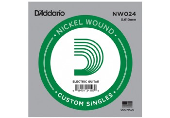 D'Addario Acoustic or Electric Nickel Wound Singles .024 - Elektro ve Akustik Gitar Tek Tel