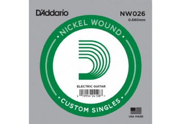D'Addario Acoustic or Electric Nickel Wound Singles .026 - Elektro ve Akustik Gitar Tek Tel