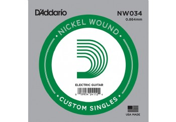 D'Addario Acoustic or Electric Nickel Wound Singles .034 - Elektro ve Akustik Gitar Tek Tel