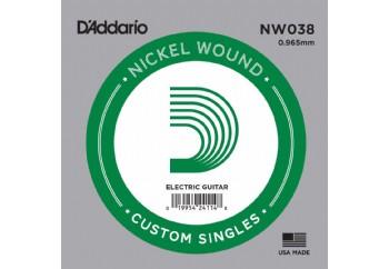 D'Addario Acoustic or Electric Nickel Wound Singles .038 - Elektro ve Akustik Gitar Tek Tel