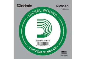 D'Addario Acoustic or Electric Nickel Wound Singles .046 - Elektro ve Akustik Gitar Tek Tel