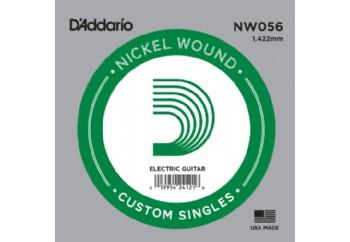 D'Addario Acoustic or Electric Nickel Wound Singles .056 - Elektro ve Akustik Gitar Tek Tel