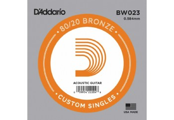 D'Addario Acoustic Guitar 80/20 Bronze Single .023 - BW023 - Akustik Gitar Tek Tel