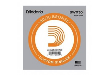 D'Addario Acoustic Guitar 80/20 Bronze Single .030 - BW030 - Akustik Gitar Tek Tel