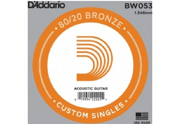D'Addario Acoustic Guitar 80/20 Bronze Single .053 - BW053 - Akustik Gitar Tek Tel