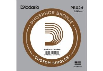 D'Addario Acoustic Guitar Phosphor Bronze Single .024 - PB024 - Akustik Gitar Tek Tel