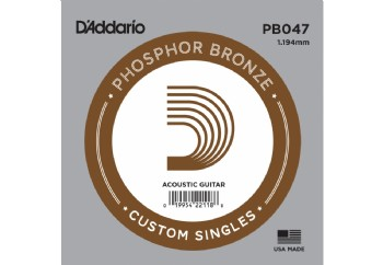D'Addario Acoustic Guitar Phosphor Bronze Single .047 - PB047 - Akustik Gitar Tek Tel