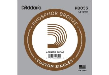 D'Addario Acoustic Guitar Phosphor Bronze Single .053 - PB053 - Akustik Gitar Tek Tel