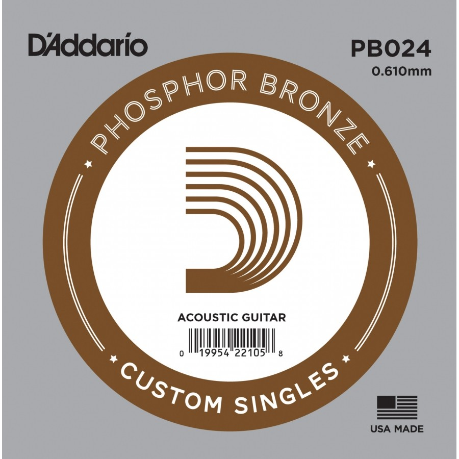 D'Addario Acoustic Guitar Phosphor Bronze Single