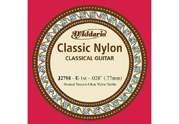 D'Addario Classic Nylon Normal Tension Clear Nyl Treble mi - J2701 - Klasik Gitar Tek Tel (Sarımsız)